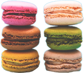 ftestickers macaroons sweet delicious