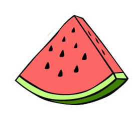 sticker watermelon freetoedit