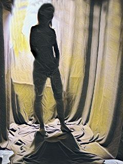 girl silhouette nudeart