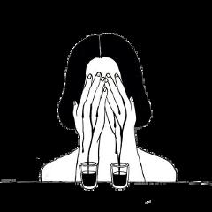 чб девушка слёзы боль freetoedit