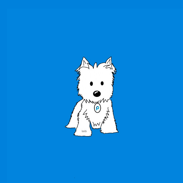 #westie #mydrawing (except PicsArt sticker) #dog  Web reference used