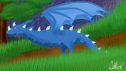 wdpmagicalcreatures dragon art myart blue