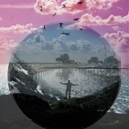 freetoedit myedit doubleexposure sea sky