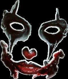 Evilclown Joker Makeup Sticker