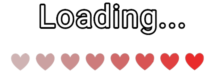 text music play hearts loading