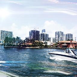 freetoedit boating blackandwhite colorsplash miami