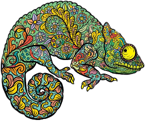 ftestickers chameleon freetoedit