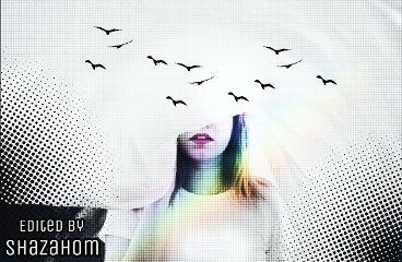 freetoedit shazahom1 illusion rainbow effect