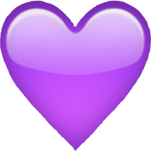 queen purple heart emoji purpleheart purpleheartemoji