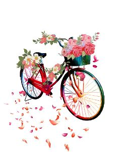 bicycle flowers floatingflowers spring colorful