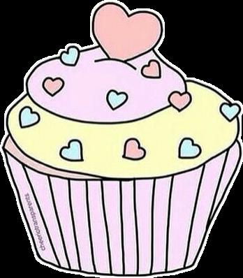 Cupcake Tumblr Sticker By Victoria Lima
