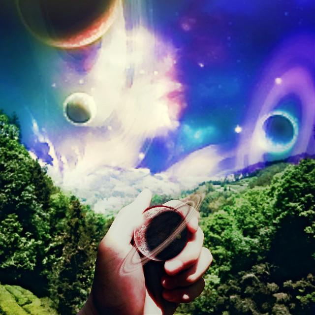 #remixit #dailyremixit #planets #surrealism #getlost