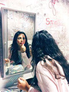 fridaynight makeup graffiti mirror