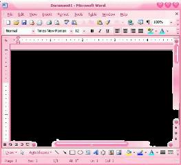 pantalla word microsoft rosa pink