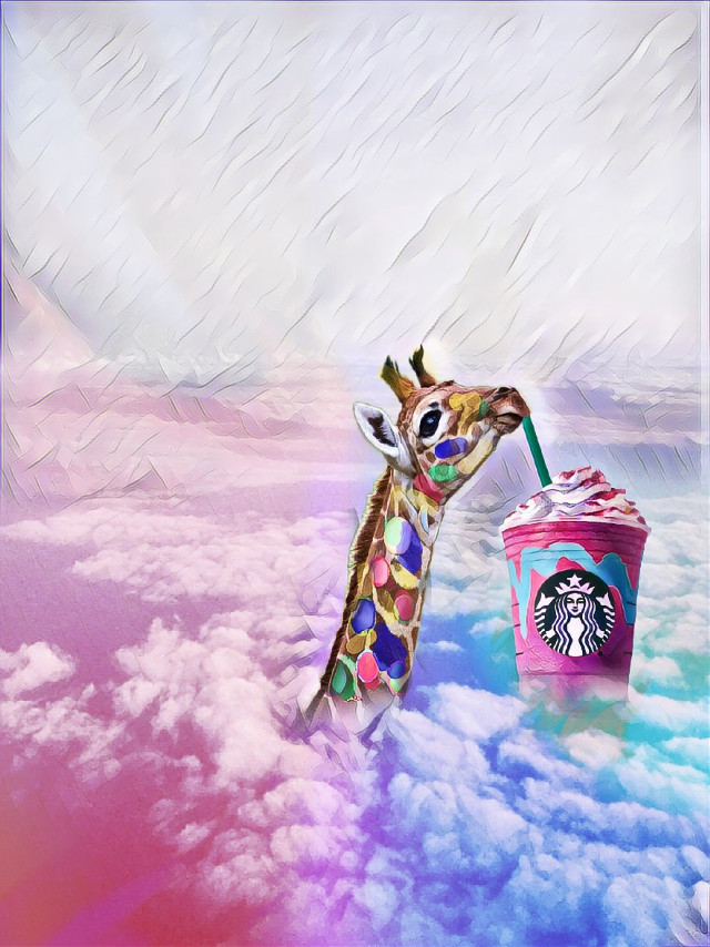 #skyremix #giraffe #unicornfrappucino #unicornfrappucinostickerremix