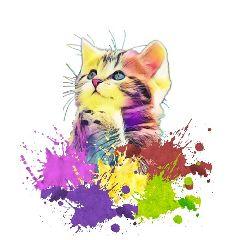 freetoedit colorsplash cat kittens kitty