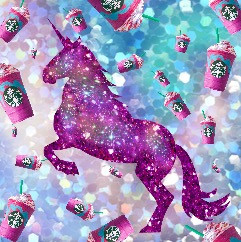 freetoedit unicorn galaxy unicornfrappucino rainbow