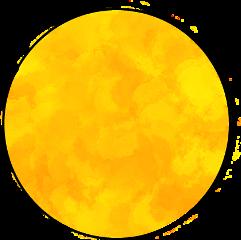 orange circle sun freetoedit