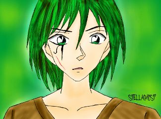 sogghynjodonati demon greenhair drawing boy