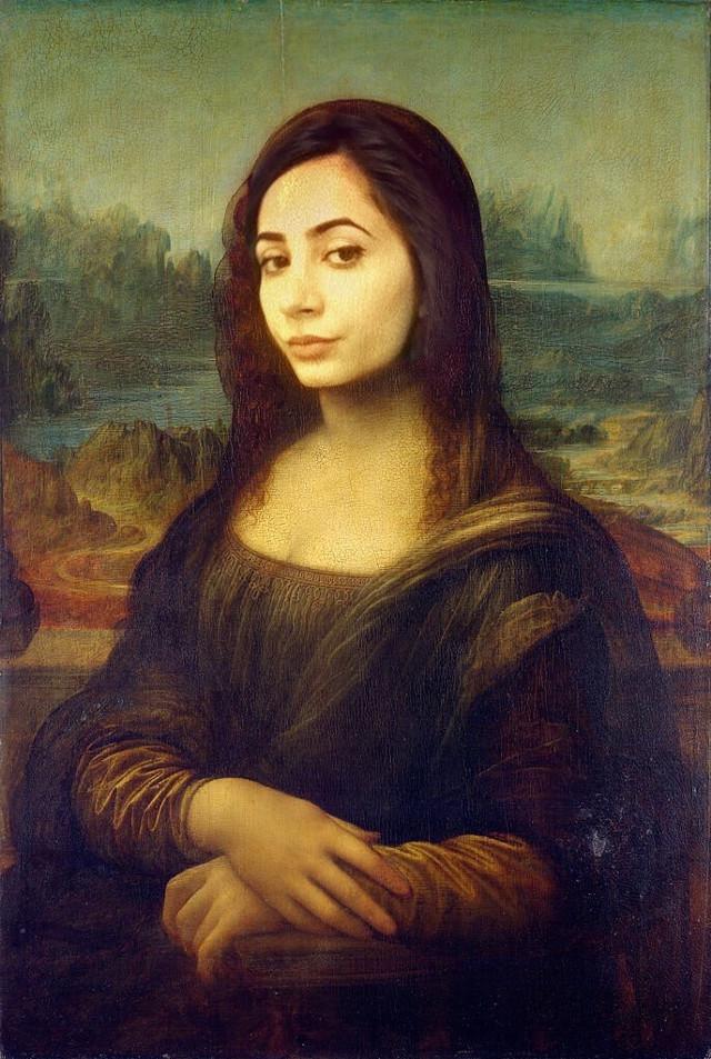Turn yourself into Mona Lisa 😝😂 I'm gonna create a tutorial soon! So stay tuned!#MonaLisa #DaVinci #makefun #funny #freetoedit #renaissanceremix