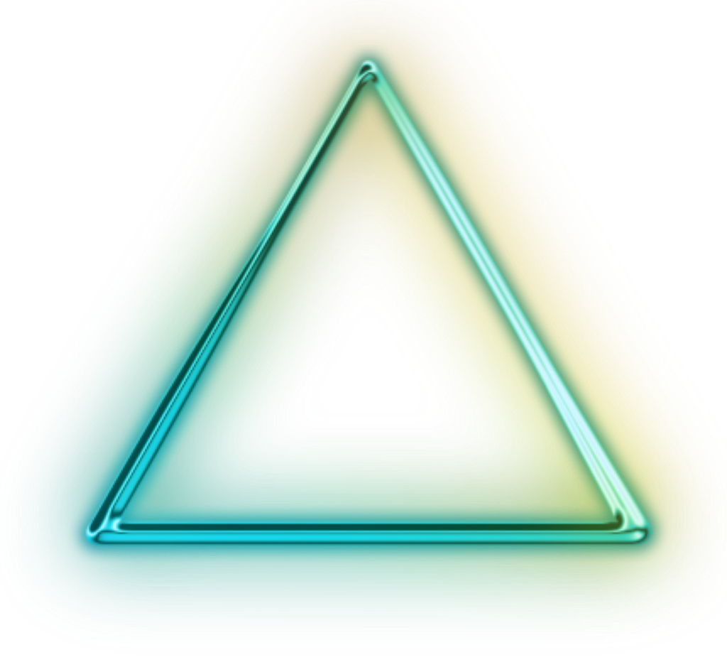 #ftestickers #green #neon #triangle #freetoedit