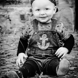 baby blackandwhite boy shooting