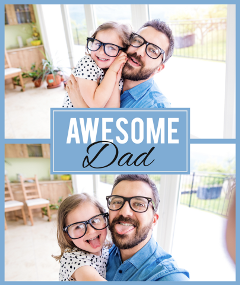 collage father daughter fun