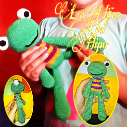 rana frog amigurumi crochet ganchillo