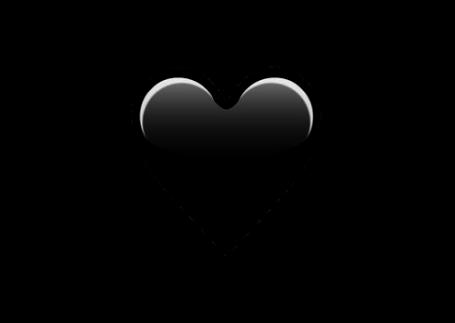 corazon heart black negro emoji tumblr love whatsapp...