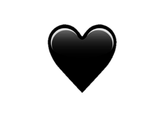 corazon heart black negro emoji ftestickers ftesticker freetoedit