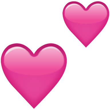 corazones hearts pinks pink rosa amor emoticon corazon