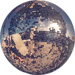 ftestickers disco ball discoball club