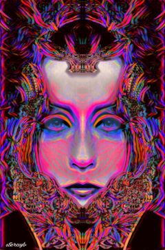 colorful popart retro vintage psychedelic