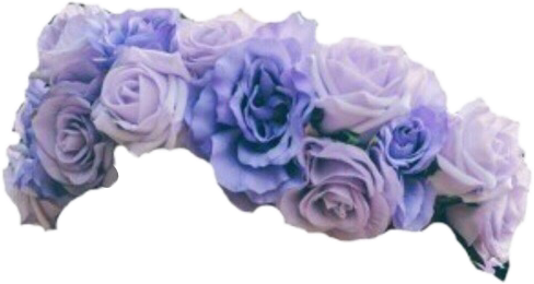 Transparent Purple Flower Crown