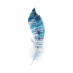 feathers stickers blue freetoedit