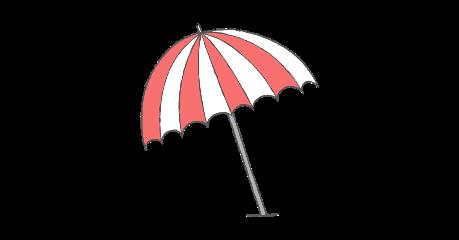 umbrella stripes summer rain beach