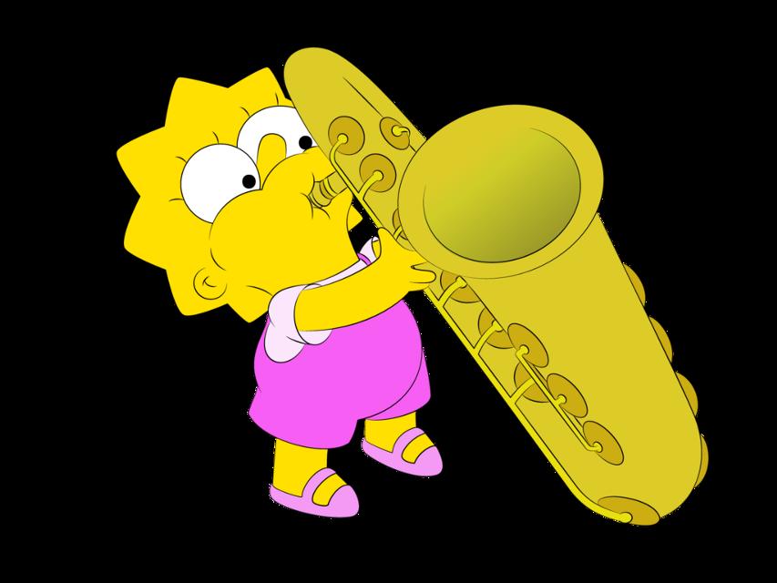 #lisasimpson #thesimpsons #yellow #saxophone #kid #mini #pink