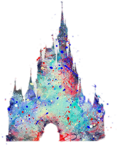disney castle cinderella colorful pretty