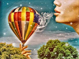 freetoedit letitsnow maskeffect balloon overlay