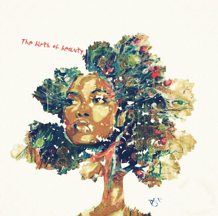 #freetoedit #mypic #doubleexpousure #treeoflife  #blackgirl #beauty #iloveit @pa