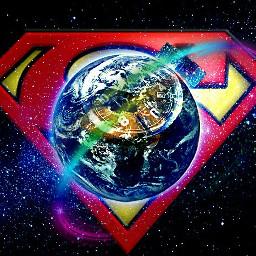 Superman Amazing universe timeoflove lovesavetheworld earth superhero clock ring stickers adesivo thankyouartist protection union