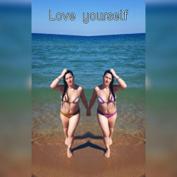 freetoedit love loveyouself beach mirror
