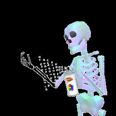 skeleton ftestickers holographic freetoedit