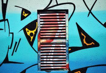 freetoedit urban drawing door blue