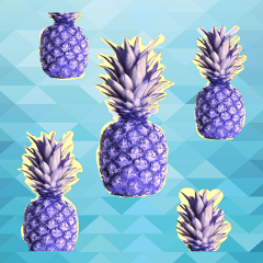 freetoedit challenge ananas stickers