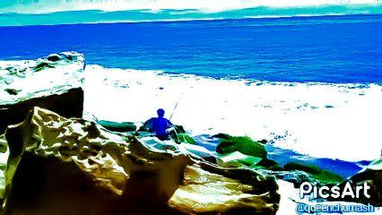 freetoedit greatgrndson fishing fathersday beach