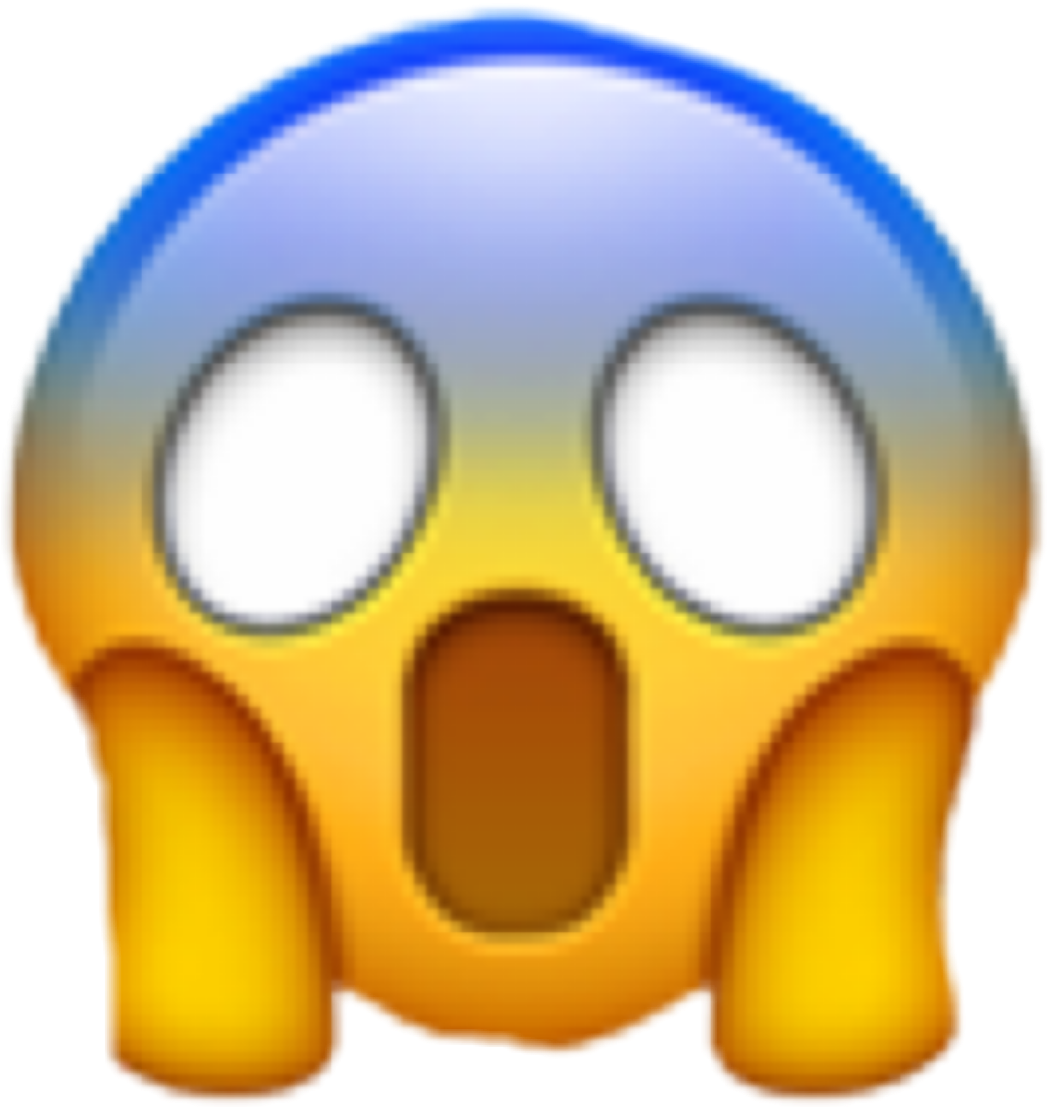 Sticker Shocked Emoji Wow Omg Freetoedit 235677953017212 on Transparent Emoji Food