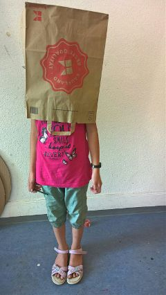 child paperbag freetoedit