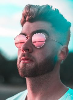 freetoedit boy people sunset sunglasses