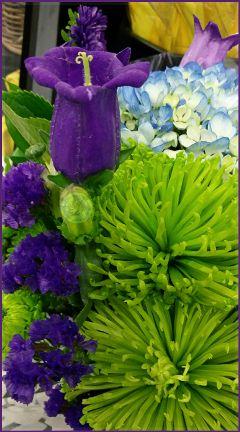 flowers green purple bouquet photography freetoedit
